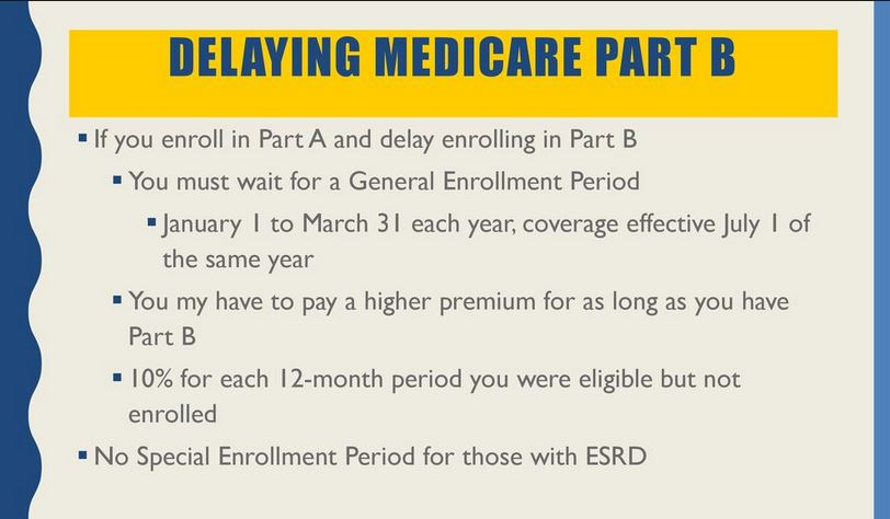 Delayed Medicare Part A and Part B, and Late Enrollment Penalty