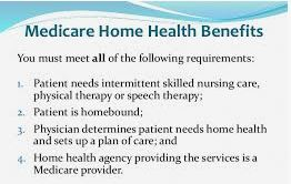 Changes in Medicare home care coverage for Medicare skilled nursing care and rehabilitation therapy