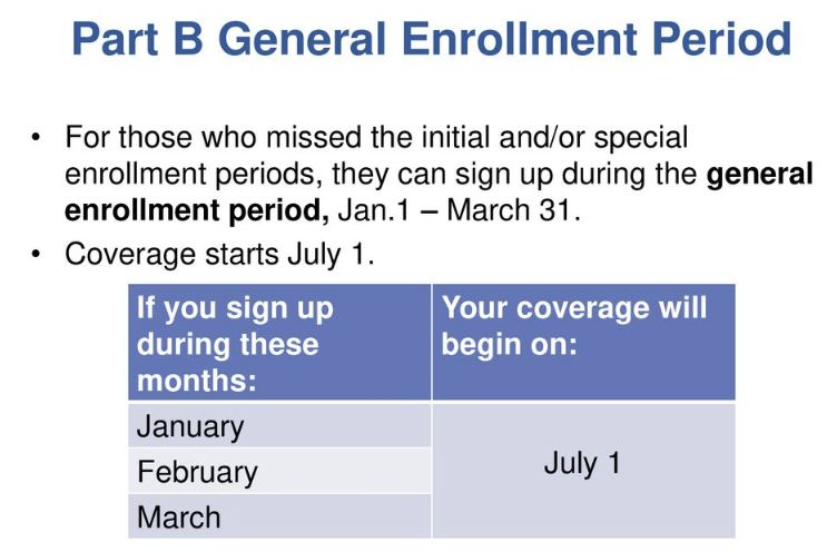 General Enrollment Period (GEP)